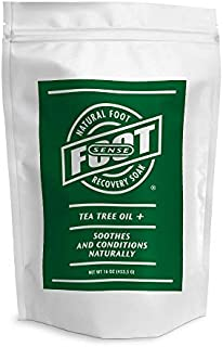Sponsored Ad - Tea Tree Oil Foot Soak With Epsom Salts, Neem, Lavender, Eucalyptus, Rosemary Oils - Soaks Away Athletes Fo...
