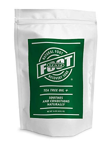 Tea Tree Oil Foot Soak With Epsom Salts, Neem, Lavender, Eucalyptus, Rosemary Oils - Soaks Away Athletes Foot, Foot Odor. Softens, Cleans, Protects, Soothes.