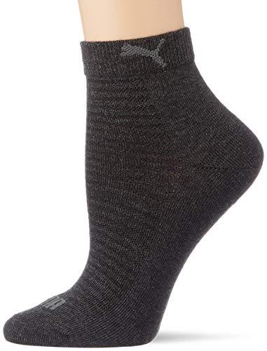 PUMA Frauen Quarter Socken, Anthrazit, 35/38 (2er Pack)