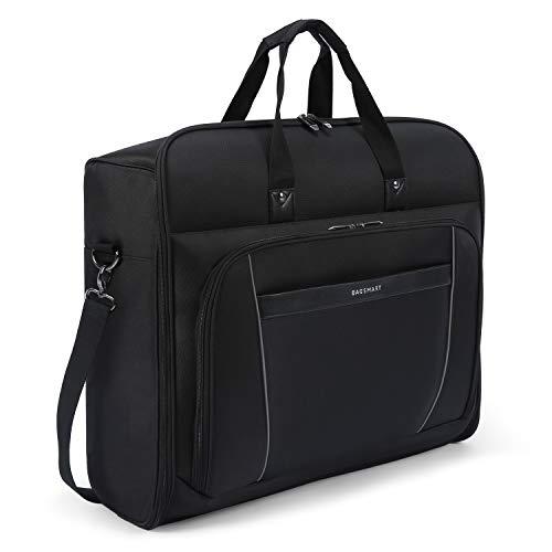 BAGSMART Carry On Garment Bag Travel Suit Bag with Shoulder Strap for Suits, Black