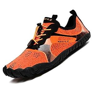 [AllToze] トレーニングシューズ 足袋のような ジムシューズ 超軽量 メンズ レディース 筋トレ ベアフット フィットネス (オレンジ, measurement_25_point_0_centimeters)