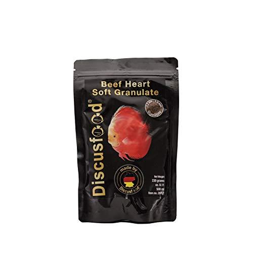Beef Heart Softgranulat 230g, mit reinem Rinderprotein, Hauptfutter, Alleinfuttermittel für Diskus und andere Cicliden
