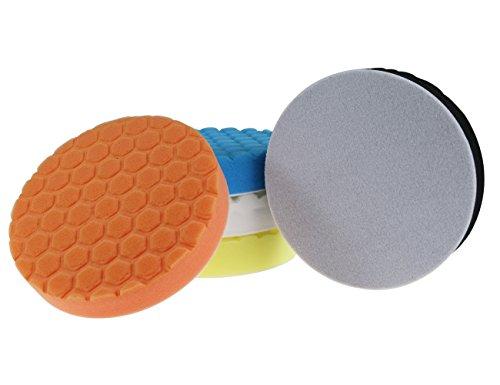 Almohadilla de pulido hexagonal de 6 pulgadas 150 mm para el paquete de pulidor de coche de 5