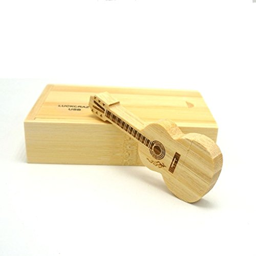 LUCKCRAZY - Memoria USB para guitarra (16 GB, 16 GB, madera de bambú)