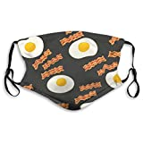 Breakfast With Bacon And Eggs Face Mask Fashion Scarves Uv Protection Waterproof Breathable M