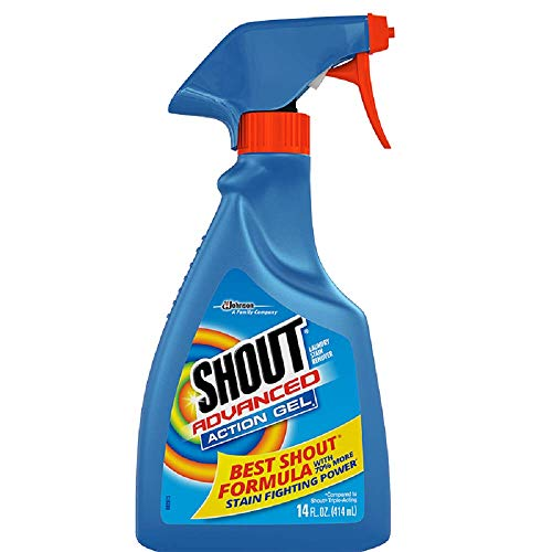 Shout Advanced Spray and Wash Gel Stain Remover for Clothes, Best Shout Formula, 14 fl oz