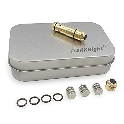 ARKSight 9mm Dry Fire Training Cartridge Integrated Snap Cap for Dry Fire Trainer, Red Dot Beam Bullet with Double O-Ring