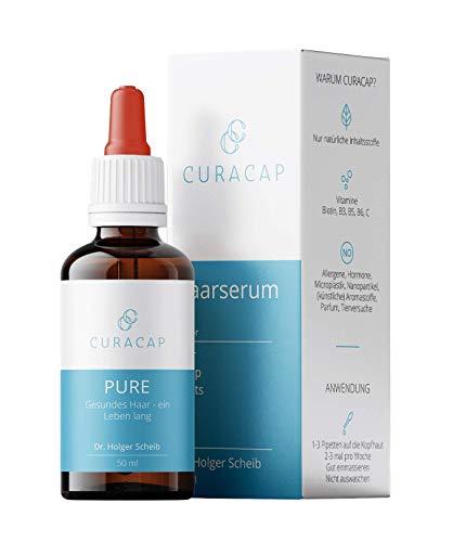 CuraCap Wechseljahre Haarserum von Dr. Holger Scheib | Haar Vitamin Haarwasser für die Frau | In der Menopause oder Schwangerschaft & bei Haarausfall durch Extensions | Frauen Haarvitamine | Pure