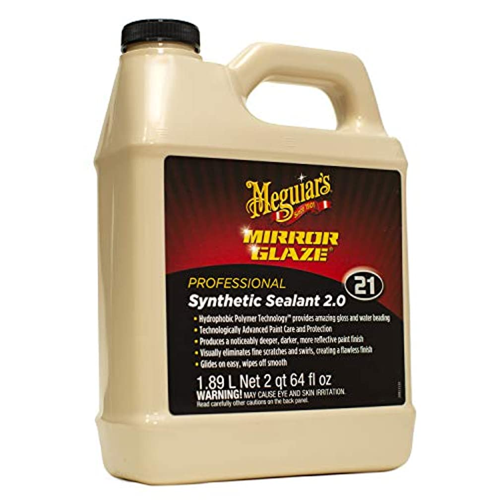 Meguiar's M2164 Mirror Glaze Synthetic Sealant 2.0, 64 Fluid Ounces, 1 Pack