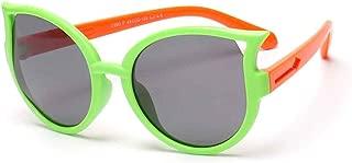Fashion Boys and Girls Children Sunglasses Glasses Polarizer Sunshade Mirror Tide Sunglasses,Green