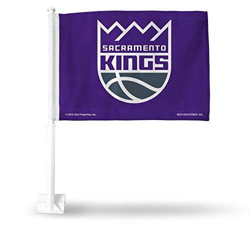 NBA Rico Industries Car Flag including Pole, Sacramento Kings
