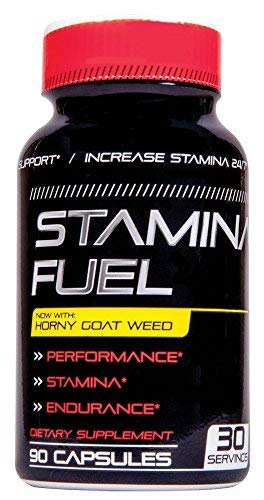 Stamina Fuel - Increase Stamina, Size, Energy, and Endurance Now with Muira Puama, Cayenne Horny Goat Weed & Maca Formula to Maximize Physical Performance & Endurance for Men & Women 90 Caps Made USA