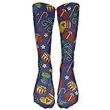 Calcetines de compresión de rodilla para hombre y mujer, de colores suaves, elásticos, para atletismo