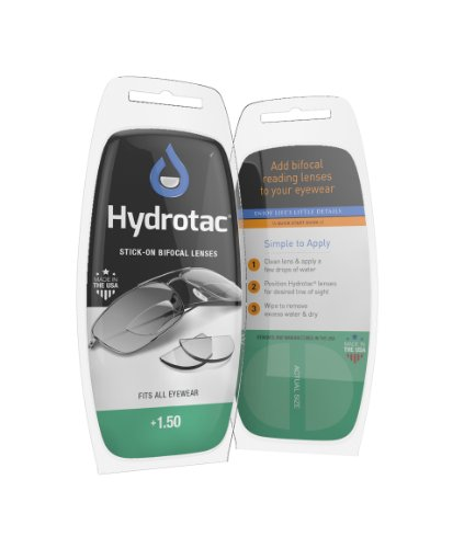 Hydrotac Stick-on Bifocal Lenses (OPTX 20/20)- +1.50 Diopter