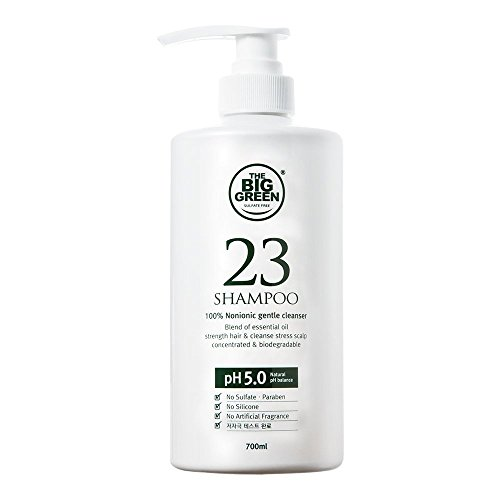 BIGGREEN 23 Natural Daily Scalp Shampoo - Big Green All-Natural Shampoo - Sulfate & Silicone Free for Dry & Irritated Scalp with Botanical Oils to Promote Strong and Healthy Hair 23.6 fl oz.