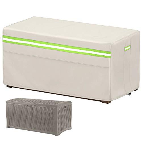 Abdeckung für Aufbewahrungsboxen, Gartenbox wasserdicht, Kissenbox Abdeckung Auflagenbox Schutzhülle,Rip-Stop und...