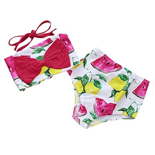 Maillots de Bain Bikini Plage Filles Bébé Sling Pastèque Ensemble 3 pièces Eté Fashion Décontracté Swimsuit