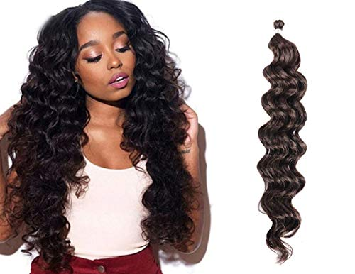 UNA 18inch Ocean Wave Crochet Braids (36strands/Piece, 4Pieces) Synthetic Crochet Hair Extension (#4)