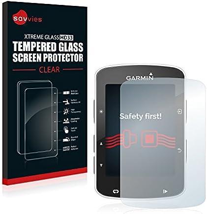 Savvies Protector Pantalla Cristal Templado Compatible con Garmin Edge 820 - Dureza 9H
