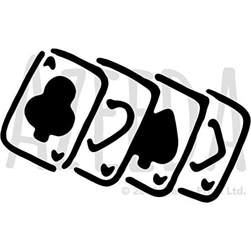 Azeeda A4 'Kartenspielen' Wandschablone / Vorlage (WS00035179)