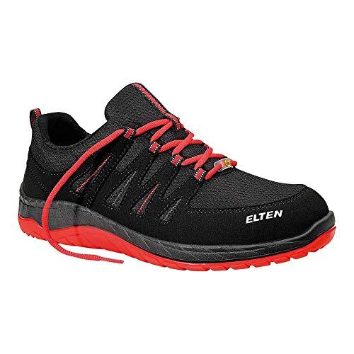 ELTEN Sicherheitsschuhe MADDOX Black-Red Low S3, Herren, sportlich, leicht, schwarz/rot, Stahlkappe
