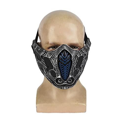SASKATE Halbgesichtsmaske, Samurai-Maske, Harz, Cosplay, Mundbedeckung für Party-Requisiten, Airsoft, Paintball, BB-Pistole, CS-Spiel, Jagd, Schießen, Halloween-Requisiten