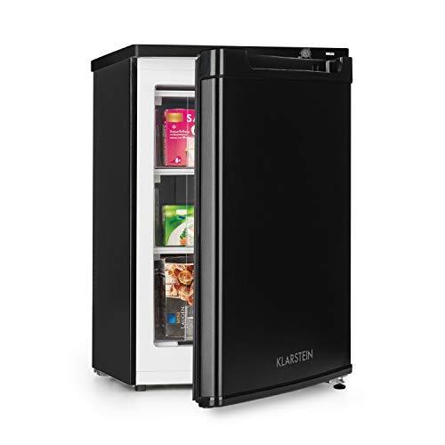 Klarstein Garfield XXL - Congelatore, Freezer, Classe A+, Volume 81 Litri, 3 Cassetti Trasparenti, Termostato a 3 Livelli, Altezza Regolabile, 39 dB, Nero