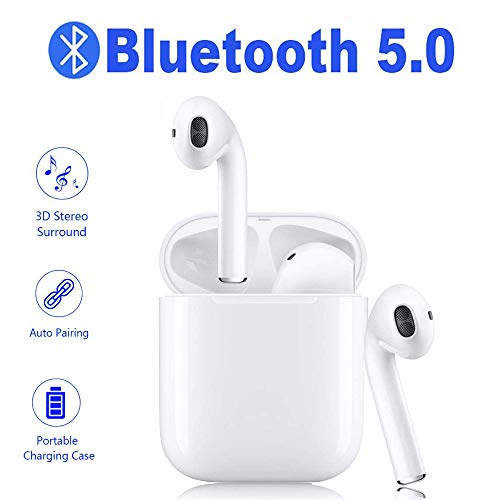 Wireless Earbuds Bluetooth 5.0 Headphones, Sweat-Proof Sports in-Ear Headphones, Compatible with iPhone, Android, Laptop and Smart Devices
