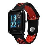 Saisiyiky Correa Compatible con Amazfit Bip Youth - 20mm Silicona Correa de Repuesto para Galaxy Watch, Gear S2 Classic, Huawei Watch 2 (Rojo)