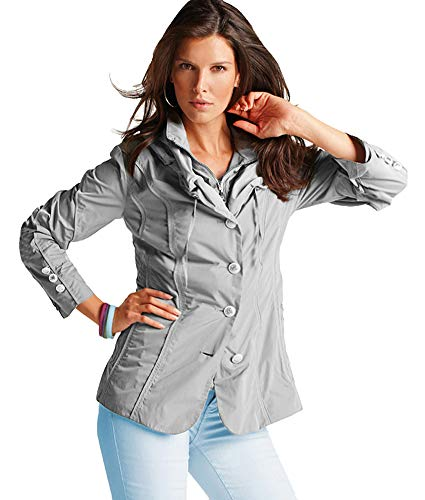 GELCO - Damen-Jacke sportlich-elegant, Silbergrau Gr. 44