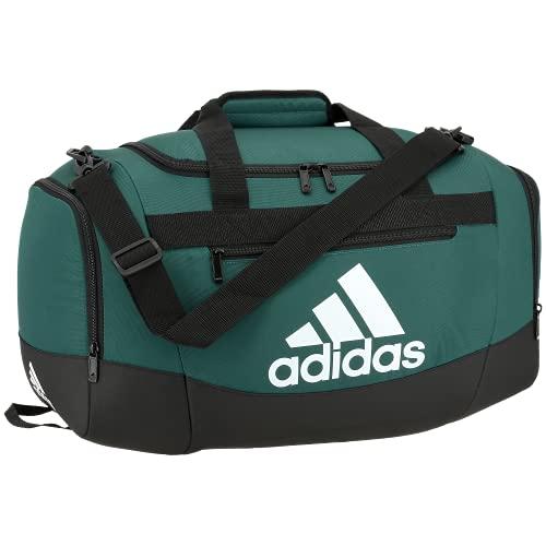 adidas Defender 4 Small Duffel Bag, Team Dark Green, One Size