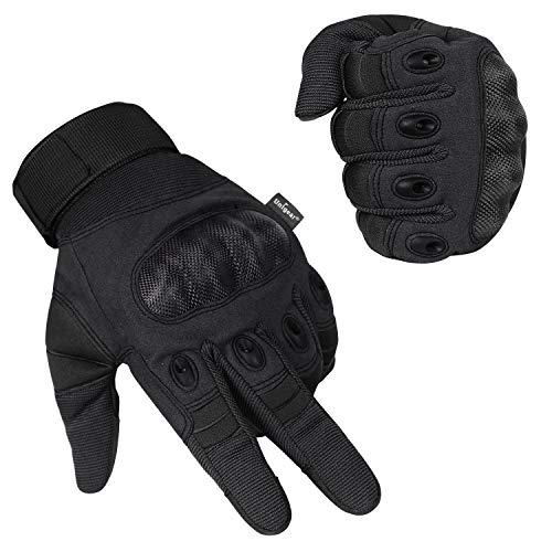 Unigear Motorrad Handschuhe Herren, mit schmalem Riegel, Leichte Sommerhandschuhe auch geeignet für Taktische Handschuhe, Skifahren, Militär, Airsoft Outdoor Handschuhe (XL, Schwarz)