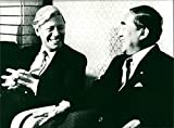 Helmut Schmidt und Yasuhiro Nakasone - Vintage Press Photo