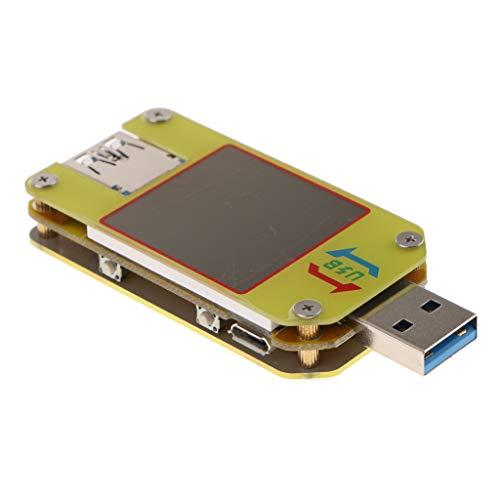 SDENSHI USB Detektor USB 3.0 Spannungsmesser Batterietester LCD Für Android - Gelb, um34