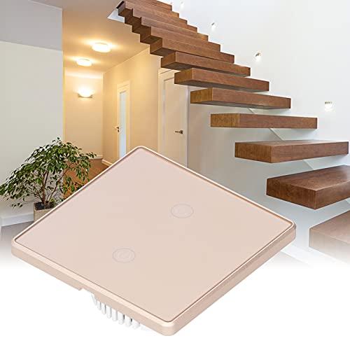 Huairdum Interruptor de luz WiFi, Interruptor WiFi Interruptor de luz de Vida Inteligente Interruptor inalámbrico para hogar Inteligente para una Vida Inteligente