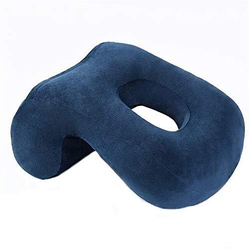 リタプロショップ® 腕がしびれない デスク用お昼寝枕 ブルー 昼寝クッション うつ伏せ枕 デスクピロー ネックピロー