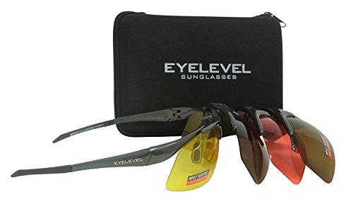 Juego de gafas de tiro y seguridad – 4 colores intercambiables irrompibles UV400 lentes