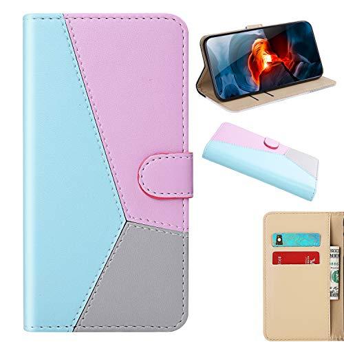 Nokia 2.4 Handyhülle Kompatible für Nokia 2.4 Hülle Case Flip PU Leder Tasche 3D Muster Flipcase Schutzhülle Handytasche Ständer Klapphülle Schale Bumper Bookstyle Brieftasche für Nokia 2.4 Blau