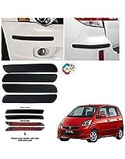 BUY HAPPYAMMY SHOP Bumper Protector Guard Plain (Small) Strip 4PCS Black (for Maruti Suzuki Zen Estilo E20)