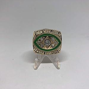 Joe Namath MVP New York Jets High Quality Replica 1968-69 Super Bowl III Championship Ring Size 11-Gold Colored