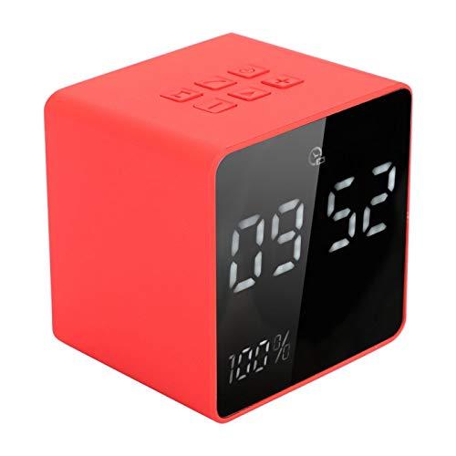 Zhat Altavoz, Rojo Potente Calidad de Sonido A11 Soporte de ABS Tarjeta de Memoria de Capacidad 32G Altavoz portátil Sonido Envolvente 3D para Conducir para el hogar