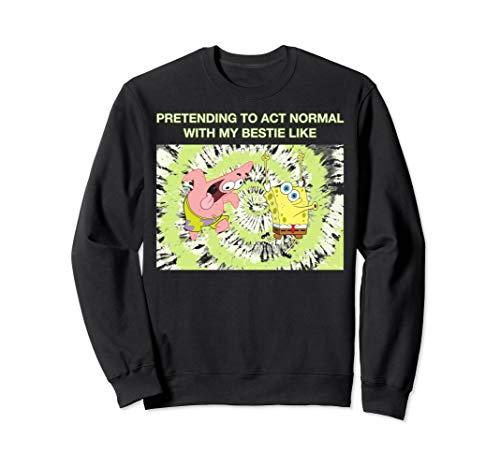 Spongebob Squarepants Pretending With Patrick Meme Sweatshirt