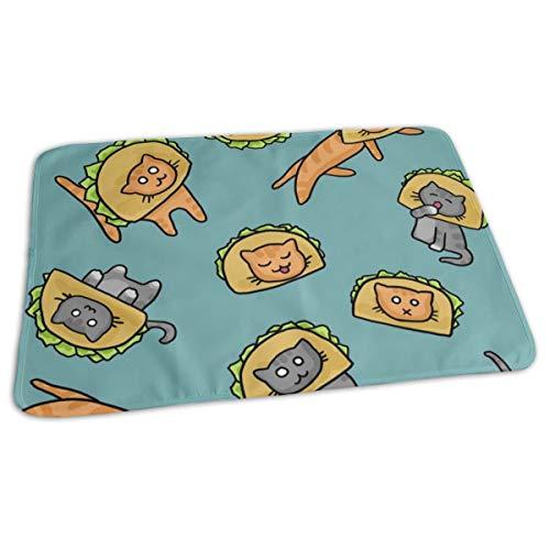 Katten in Taco Hoeden Bed Pad Wasbaar Waterdichte Urine Pads voor Baby Peuter Kinderen en Volwassenen 27.5 x19.7 inch