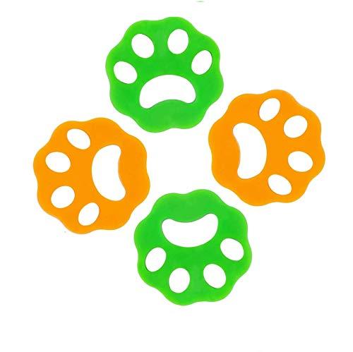 4 Unidades Recogedor De Pelo Pegajoso,Removedor De Pelo De Mascotas Reutilizable Para Lavadora, , Bola De Limpieza Flotante Para Ropa De Cama ,Ropa De LavanderíA, (Removedor De Pelo De Mascota)