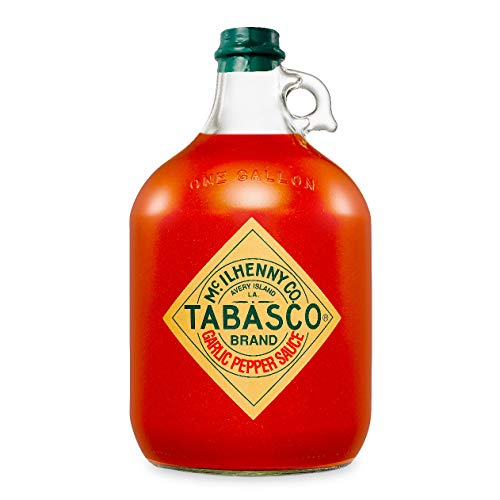 Tabasco Garlic Pepper Sauce , 1x Gallone 3,78 l, scharfe Chili Sauce, 100% natürlich, Glasflasche
