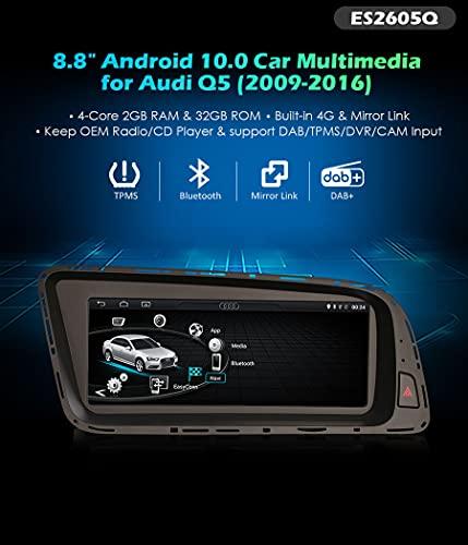 Autoradio Erisin ES2605Q 8.8' Android 10.0 er per Audi Q5 GPS DVR DAB+