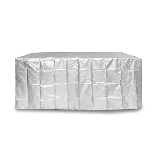 EsportsMJJ 90X90X40Cm Meubles Imperméables Couvercle Imperméable À La Poussière De Pluie Protéger Pour La Table En Rotin Cube Plein Air Jardin Rond - Argent