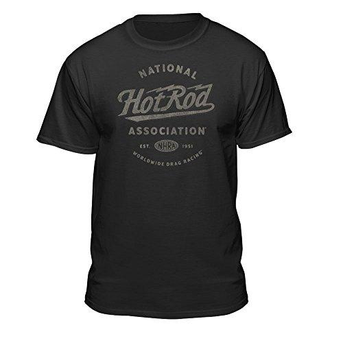 NHRA National Hot Rod Association Worldwide Drag Racing Men's Vintage T-Shirt (X-Large) Black