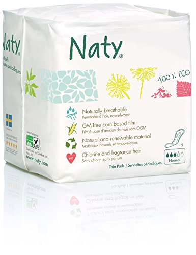 Naty - Compresas ecológicas nature, normal (15 compresas)