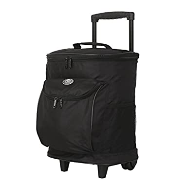 16  Cool Carry 2-Section Rolling Cooler with Thermal Insulation, Black Color Option